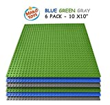 """Best Toys Compatible With LEGOs - Lego Compatible Baseplates 10"""" x 10"""" in Blue Review"""