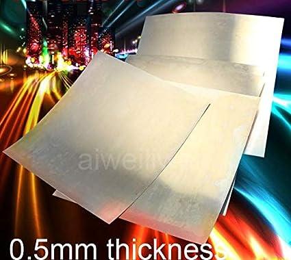 Length: 0.5x200x200mm Ochoos 0.5mm Thickness 100x100mm 200x200 C17200 Plate BeCu Sheet HRC45 Beryllium Copper Belt Wear-Resisting Beryllium Bronze foil QBe2