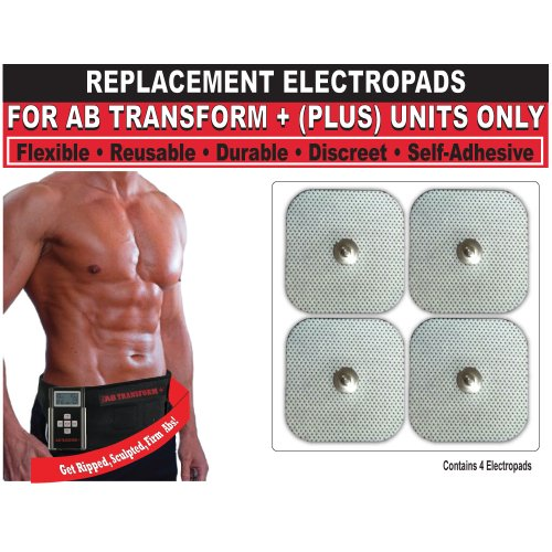 Beautyko auto-adhésif de remplacement Gel Tonique Tapis (jeu de 4) Pour Ab Transform Plus ceinture de tonification abdominale (approuvé par la FDA-Vu à la TV)