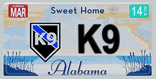(Aluminum Sweet Home Alabama Sheriff Vanity-Novelty License Plate For Law Enforcement - K9 Canine)