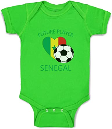 Newborn Baby Girl Boy Soccer Ball and Player Outfits Romper Jumpsuit Short Sleeved Bodysuit Tops Clothes