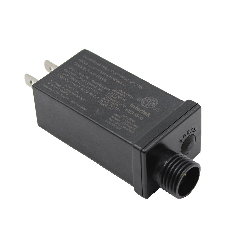 29V 31V LED Transformer Class Two LED Power Supply, Waterproof IP44 Low Voltage Seasonal Use LED Driver US CA Plug For String Light, Projector Light, Lawn Lamp
