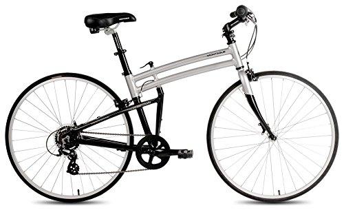 Montague Crosstown Folding 700c Pavement Hybrid Bike Boulder Gray 17'