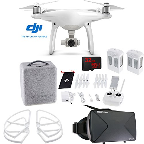 DJI-Phantom-4-Advanced-Quadcopter-Drone-FPV-Virtual-Reality-Experience-includes-Drone-Virtual-Reality-Viewer-Intelligent-Flight-Battery-Propeller-Guards-and-32GB-microSDHC-Memory-Card