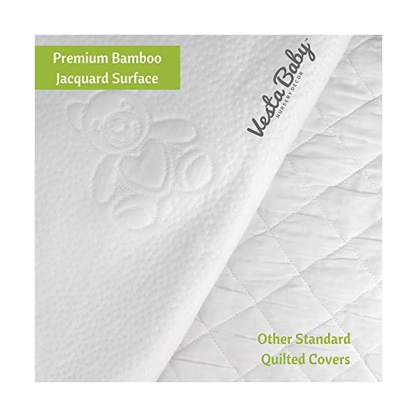Mattress Protector Waterproof Bamboo Soft Hypoallergenic Fitted Pad Cover