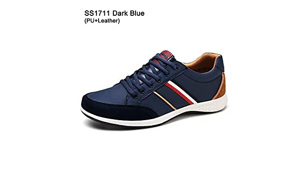 Amazon.com | Meetloveyou Mens Shoes Breathable Leather Mesh Casual Shoes Men Luxury Footwear Men Autumn Shoes Sneakers | Loafers & Slip-Ons