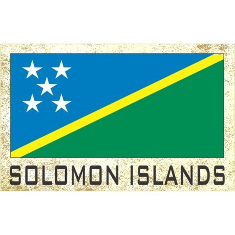- Flag Fridge Refrigerator Magnets - Asia & Africa Grp 3 (3-Pack, Country: Solomon Islands )