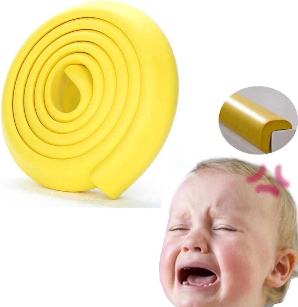 protector de esquinas de seguridad para beb/és Protector de esquina para muebles de 2 m protecci/ón de /ángulo para ni/ños amarillo protector de esquinas YunBest