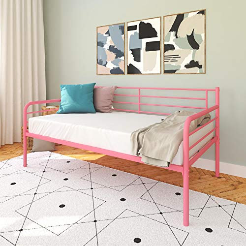 DHP Metal Daybed Frame, Twin Size Furniture, Pink (Sale For Frames Daybed)