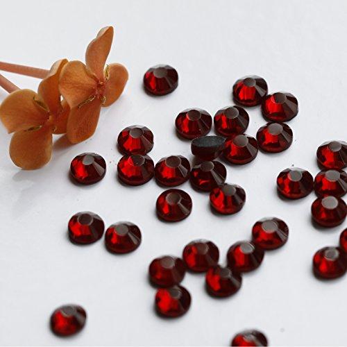 - 1440pcs Ss16 About 4mm Dmc Iron on Hot Fix Crystal Rhinestones Diamond Gems Wholesale (dark red)