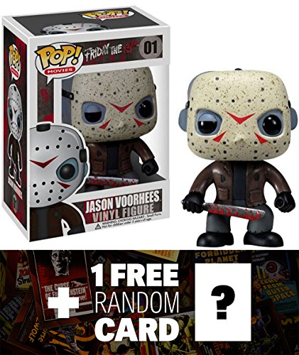 Friday The 13th Jason Voorhees: Funko POP! Horror Movies x Vinyl Figure + 1 FREE Classic Sci-fi & Horror Movies Trading Card Bundle [22925] ()