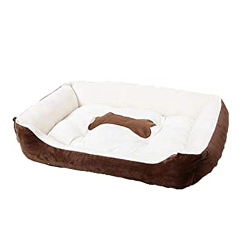 LJ-PET Gamuza Cama de Perro, Cuadrado Acolchado Amortiguador del Animal doméstico para Dormir, Suave Lavable Antideslizante-A L: Amazon.es: Productos para ...