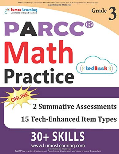 PARCC Test Prep: 3rd Grade Math Practice Workbook and Full-length Online Assessments: PARCC Study Guide pdf epub