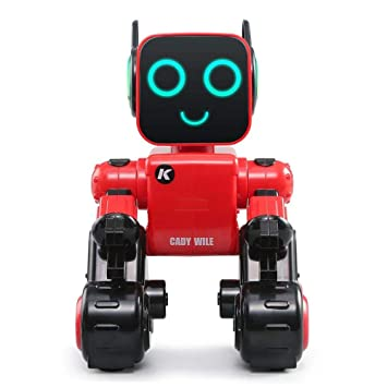 Girls All Ages Red Vogvigo Smart Robot Toy for Kids,Remote Control Toy Robot,Sensor Control RC Robots Gift Toy,Rechargeable RC Robot Kit for Boys