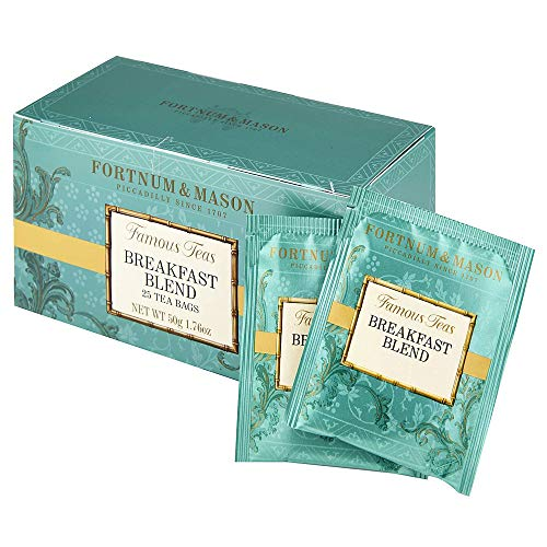 Fortnum & Mason British Tea, Breakfast Blend, 25 Tea bags (1 Pack) NEW Product ID34SD - USA Stock