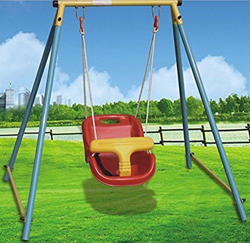 Movement God Baby Outdoor Garden Folding Swing Set with Safety Belt
