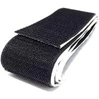 Fita Auto Adesiva Velcro Macho + Fêmea Fixação De Pedais - 1 Metro (50mm, PRETO)