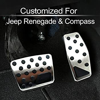 1*Red Aluminum Left Side Foot Rest Pedal Panel Cover Trim For Renegade 2015-2018