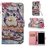 3d jelly cases for galaxy s5 - Galaxy S5 Case,Durable PU Wallet Cover Kickstand Cover Credit Card Holder Flip Folio Shell Cover with Strap with Magnetic Closure Birthday Gift Christmas Halloween Gift for Samsung Galaxy S5-Bird