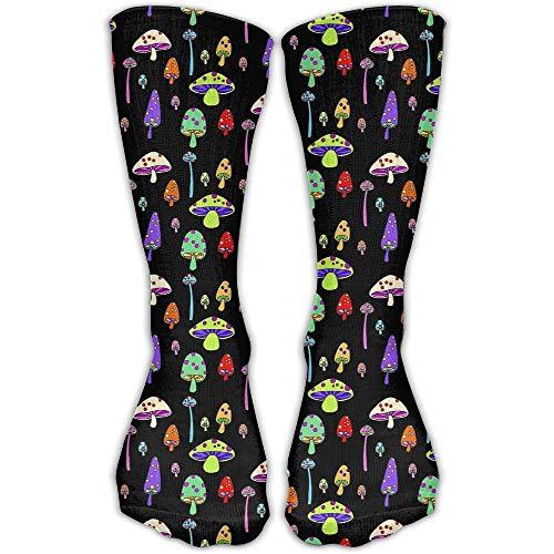 (Men Women Novelty Colorful Mushroom Funky High Sock Athletic Crew Stocking Unisex)