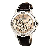 Wenger Men's Squadron Chrono Watch with Leather Bracelet