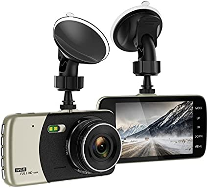 Dual Lens Front Dash Cam and Waterproof Rear Camera Motion Detection Loop Recording Full HD 1296P 170/° 4.0 IPS Screen Parking Monitor Deewaz Dash Cams for Cars Car DVR Cameras Recorder With G-sensor WDR
