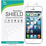 RinoGear for iPhone SE / 5 / 5S / 5C Screen Protector [Active Protection] (Edge-to-Edge) Flexible HD Crystal Clear Anti-Bubble Film