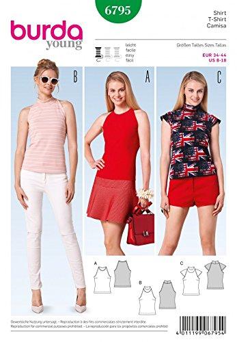 Amazon.com: Burda Ladies Easy Sewing Pattern 6795 Halter Neck Summer ...