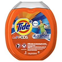 Tide PODS Plus Febreze Sport Odor Defense 4 in 1 HE Turbo Laundry Detergent Pacs, Active Fresh Scent, 61 Count Tub