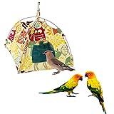 Jusney Bird toys Bird Hammock Parrot Hanging Tent Budgerigar Dual Layer Nest Parakeet Cave Tent for Medium Birds (Big)