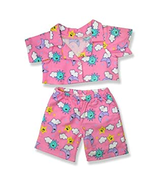luna rosa y nube Pijamas encaja oso de 15 pulgadas