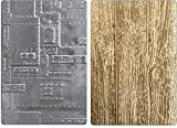 Tim Holtz Sizzix 3D Texture Fades Embossing Folders - Foundry Lumber - 2 item bundle