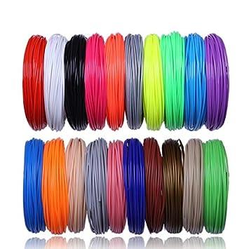 W-Shufang,3D 20 Color 200 M o 10 Colores 100 Metros Impresora 3D ...