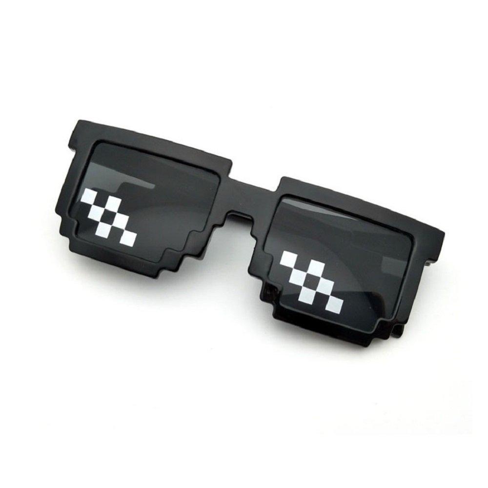 Amazon.com: Thug Life - Gafas de sol con píxeles, diseño de ...