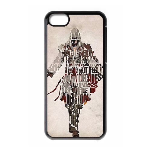 Creed J9V0GR cas d'coque iPhone de téléphone cellulaire 5c couvercle coque II8UZG7TV noir N6D15