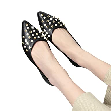 cb2cccc8ae544 Amazon.com: Baiggooswt Shoes for Women, Women Spring Rivet ...