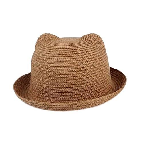 56432ec812889 De alta calidad TREESTAR niños Sombrero de paja lindo Cúpula Borde ancho redondo  Sombrero de sol