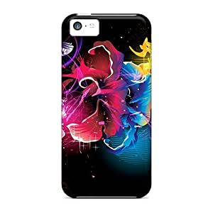 Iphone 5c Case Cover Skin : Premium High Quality Beautiful Fractal Flowers Case