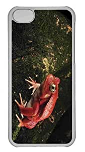 LJF phone case Customized iphone 4/4s PC Transparent Case - Tomato Frog Personalized Cover