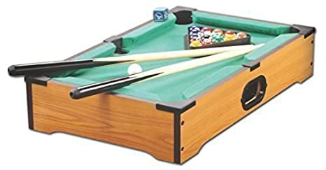 Mini Table Top Pool Table with Cues Triangle and Chalk 1