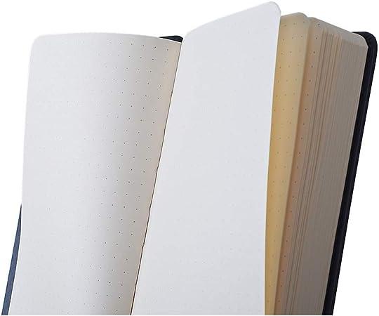 Clairefontaine 117506C Couverture en simili cuir italien Anis Un cahier souple Rhodia 160 pages ivoire 19x25 cm 90g lign/ées avec ruban marque-page fermeture /élastique et pochette /à soufflet