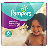 Pampers Premium Protection Active Fit Nappies, Monthly Saving Pack - Size 6, 120 Nappies