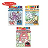 Melissa & Doug Paint with Water Activity Books Set 3-Pack; Arts & Crafts; Easy to Use; Farm, Ocean, Safari; 20 Painting Pages in Each