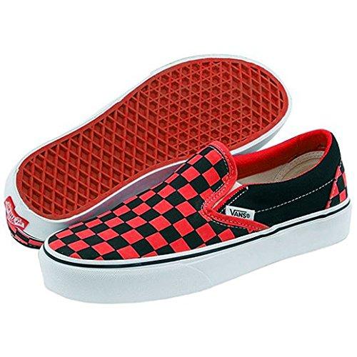 956a0b00c41 Vans Classic Low Slip On Red Black Check Pumps 5.5 UK  Amazon.co.uk  Shoes    Bags