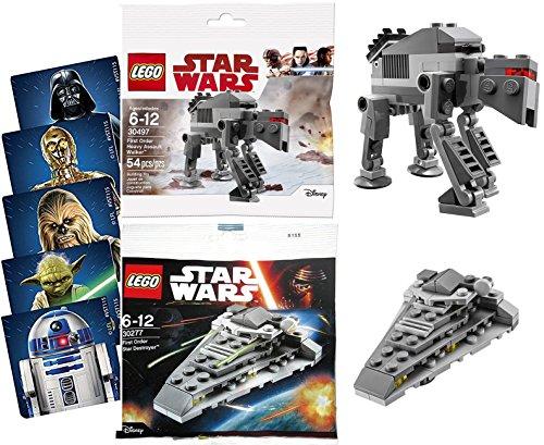 Assault Battle Pack (AYB Products Battle Ships First Order Star Destroyer Star Wars & Heavy Assault Walker Last Jedi Mini Brick Kits Bagged Exclusive Editions + Bonus Stickers)
