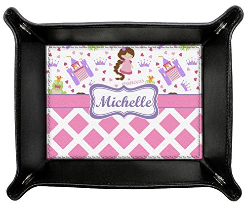 Princess & Diamond Print Genuine Leather Valet Tray (Personalized) by RNK Shops