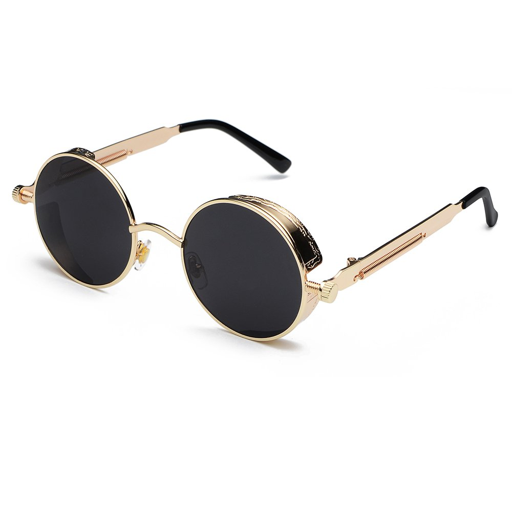 Fashion Vintage Retro Steam Punk Wind Sunglasses Classic Unique Design Sun Glasses CVOO