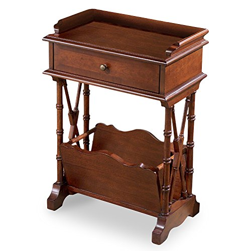 Accent Furniture - Harrowgate Magazine Rack Table - Accent Table - Cherry (Kensington Cherry Desk)