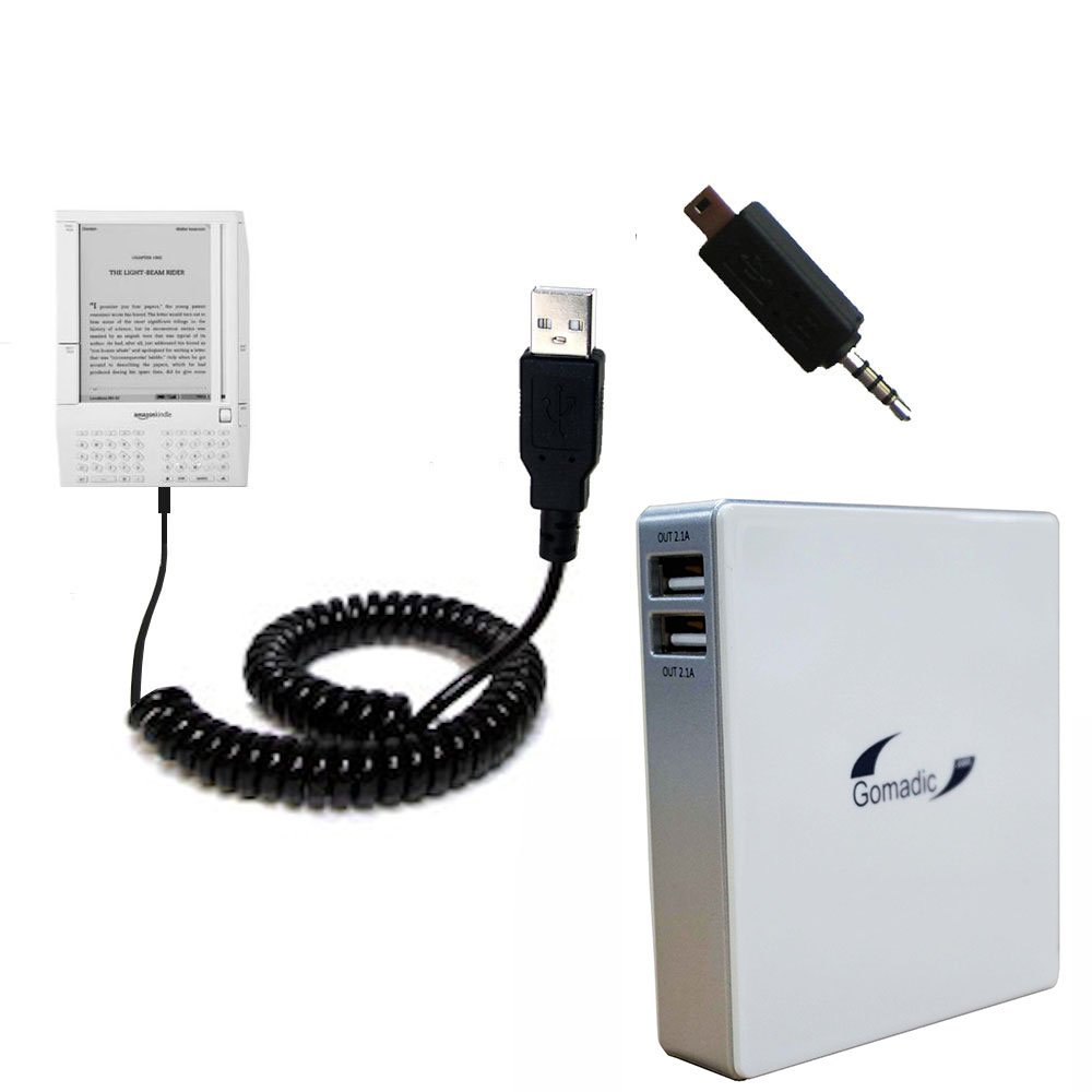 Unique Gomadic Portable Rechargeable Battery Pack designed for the Amazon Kindle (1st Generation) - High Capacity Gomadic charger that fits in your pocket