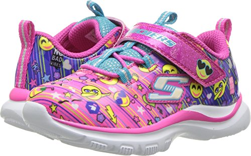 Skechers Girl's, Trainer Lite Happy Dancer Sneakers Multi Fabric 7 M (Trainers Childrens Girls)